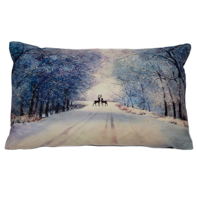 Midnight Deer Scene Cushion