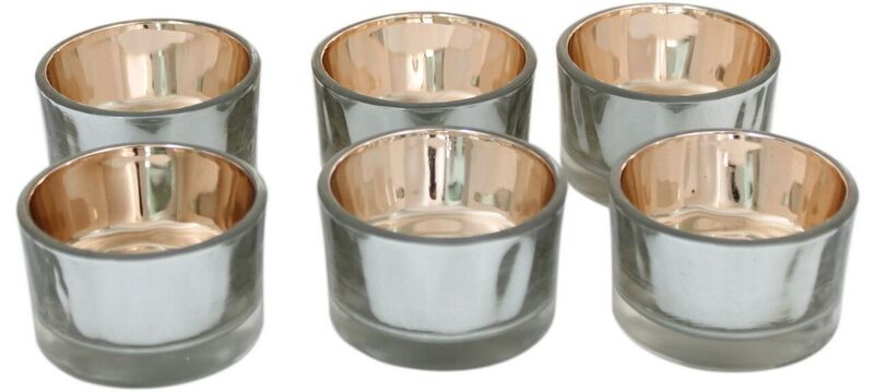 Glow 6 silver/gold Tealight holders